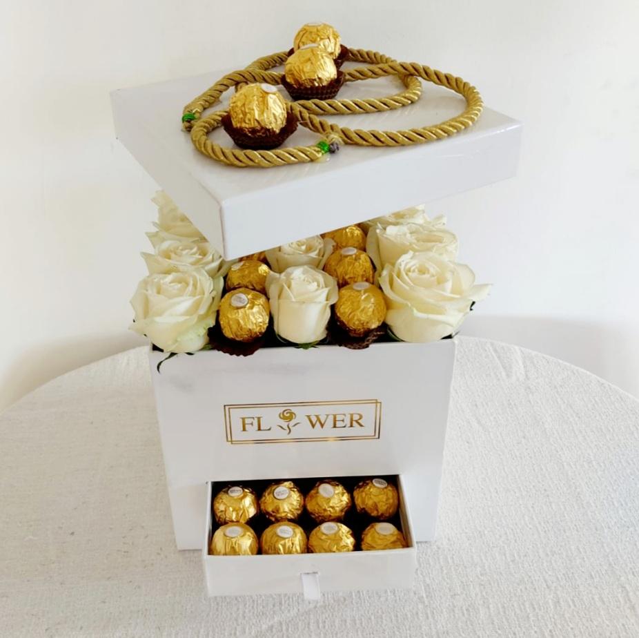 קופסת ורדים ופררו